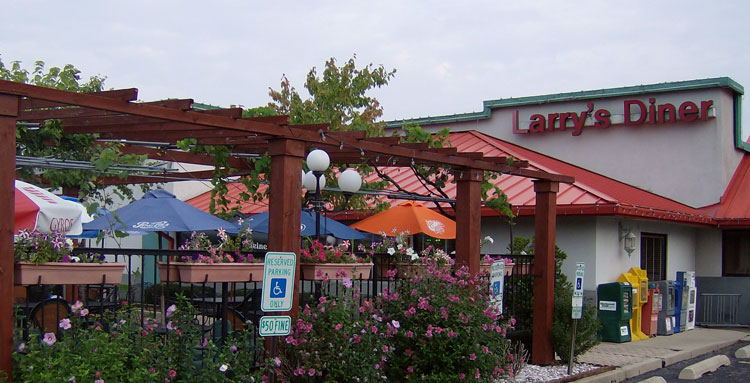 Enjoy Outdoor Dining all Summer for Dinner at Larry's Diner in Plainfield